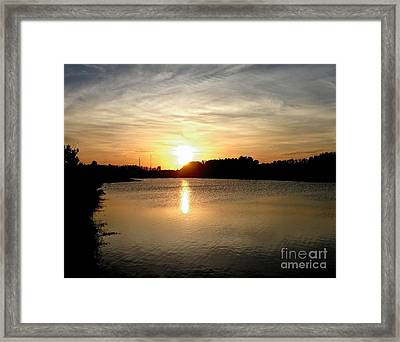 Anderson Stormwater Park In Rockledge Florida Framed Print