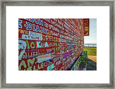 Framed Print featuring the photograph Anderson Warehouse Graffiti  by Susan Rissi Tregoning