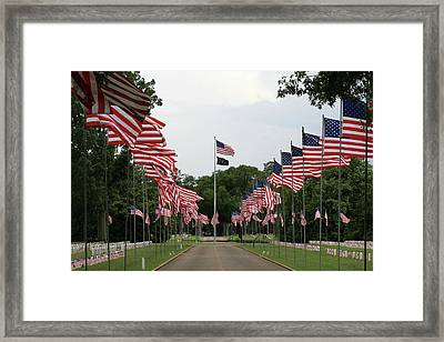 Framed Print featuring the photograph Andersonville National Cemetery by Jerry Battle