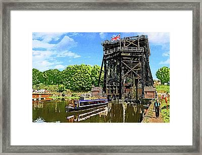 Anderton Boat Lift Framed Print