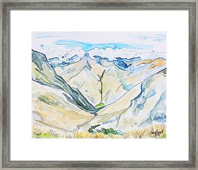 Andes Framed Print by Shaina Stinard
