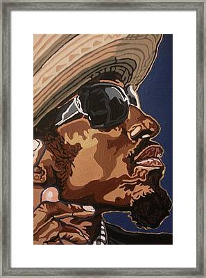 Framed Print featuring the painting Andre 3000 by Rachel Natalie Rawlins