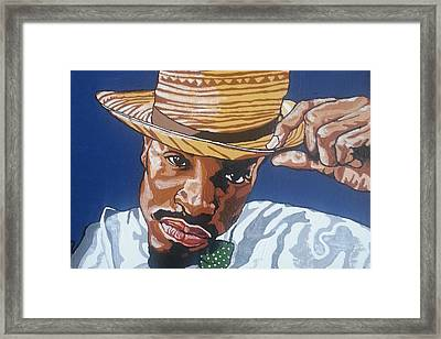 Framed Print featuring the painting Andre Benjamin by Rachel Natalie Rawlins