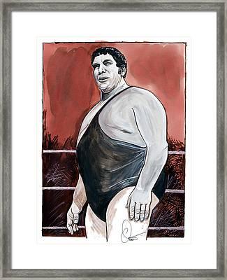 Andre The Giant Framed Print by Dave Olsen