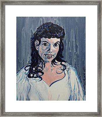 Andree Melly As Gina In The Brides Of Dracula  Framed Print