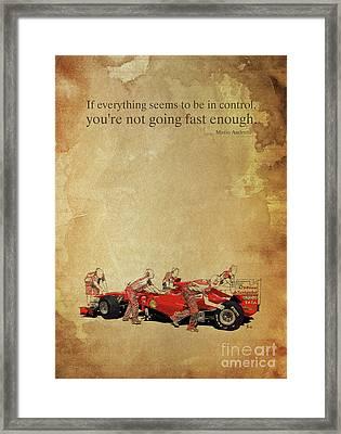 Andretti E Ferrari Framed Print by Pablo Franchi