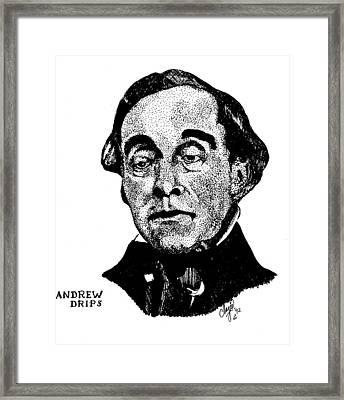 Andrew Drips Framed Print