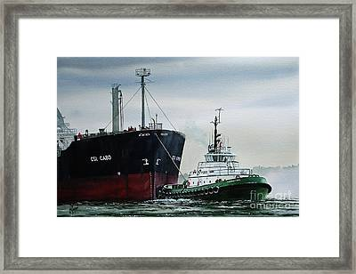 Andrew Foss Ship Assist Framed Print by James Williamson