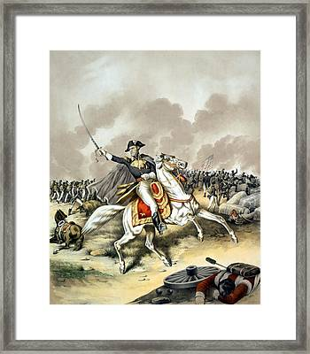 Andrew Jackson At The Battle Of New Orleans Framed Print