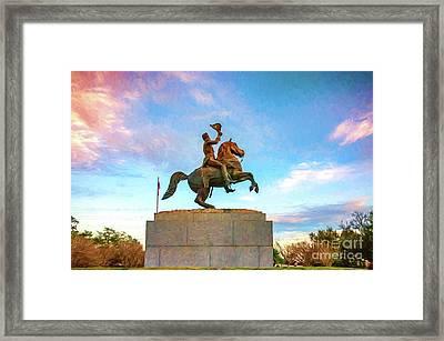 Andrew Jackson _nola_painted Framed Print by Kathleen K Parker
