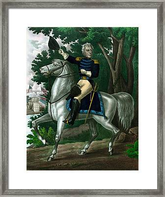 Andrew Jackson On Horseback Framed Print by War Is Hell Store