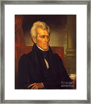 Andrew Jackson  Framed Print by Celestial Images