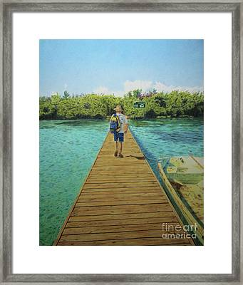 Framed Print featuring the painting Andrew by Jennifer Watson
