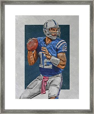 Andrew Luck Indianapolis Colts Art Framed Print