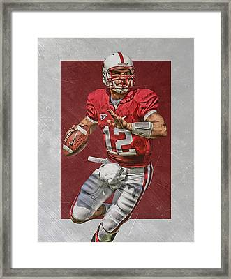 Andrew Luck Stanford Cardinals Art Framed Print