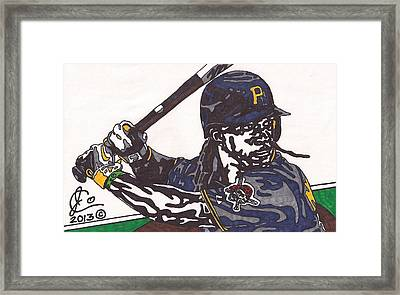 Andrew Mccutchen 1 Framed Print by Jeremiah Colley
