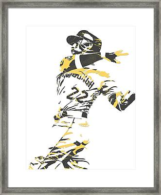 Andrew Mccutchen Pittsburgh Pirates Pixel Art 1 Framed Print