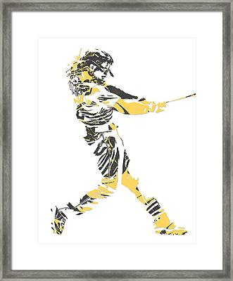 Andrew Mccutchen Pittsburgh Pirates Pixel Art 2 Framed Print