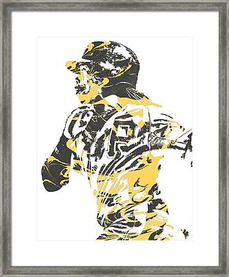 Andrew Mccutchen Pittsburgh Pirates Pixel Art 3 Framed Print