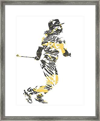 Andrew Mccutchen Pittsburgh Pirates Pixel Art 4 Framed Print