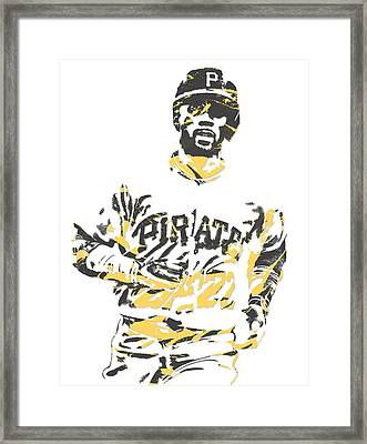 Andrew Mccutchen Pittsburgh Pirates Pixel Art 5 Framed Print
