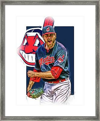 Andrew Miller Cleveland Indians Oil Art Framed Print by Joe Hamilton