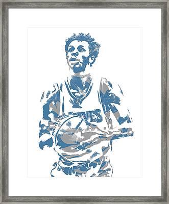 Andrew Wiggins Minnesota Timberwolves Pixel Art 12 Framed Print