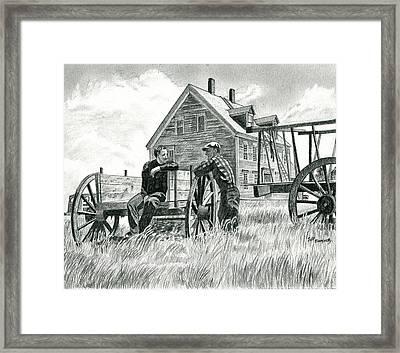 Andrew Wyeth And Alvaro Olson Framed Print by Jeff Blazejovsky