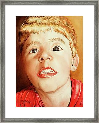 Andrew's Loose Tooth Framed Print