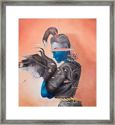 Framed Print featuring the painting Androgenetic by Obie Platon