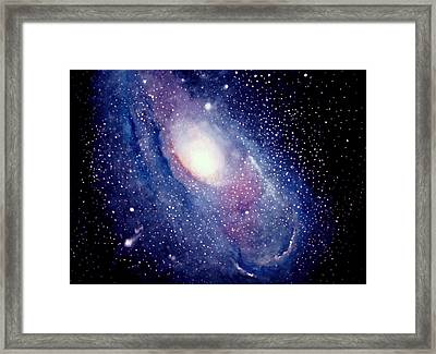 Framed Print featuring the painting Andromeda Galaxy by Allison Ashton