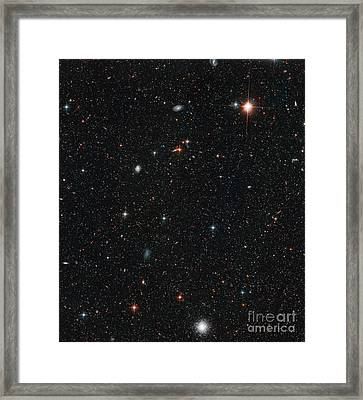 Andromeda Galaxy, M31 With Halo Stars Framed Print by Science Source