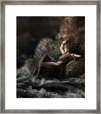 Framed Print featuring the digital art Andromeda by Shanina Conway