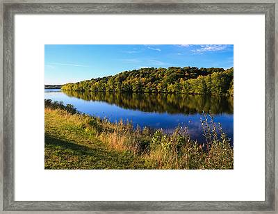 Androscoggin Morning Framed Print by Laurie Breton