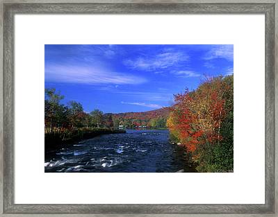 Androscoggin River Headwaters Framed Print by John Burk