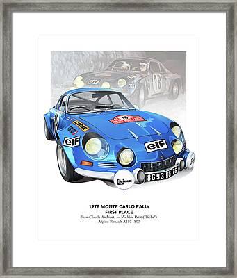 andruet Biche Monte Carlo Alpine Renault Poster Framed Print