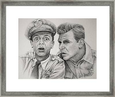 Andy And Barney Framed Print by Rita Niblock
