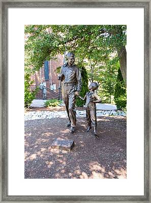 Andy And Opie Framed Print by Arnold Hence