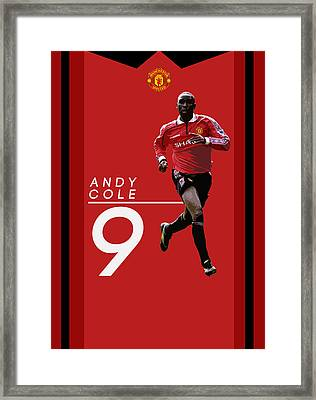 Andy Cole Framed Print by Semih Yurdabak