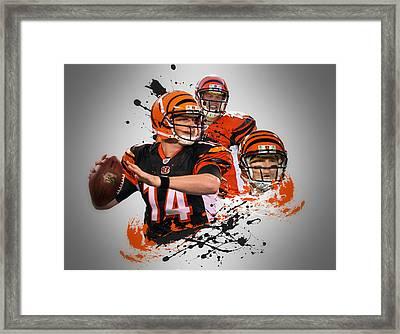 Andy Dalton Bengals Framed Print by Joe Hamilton