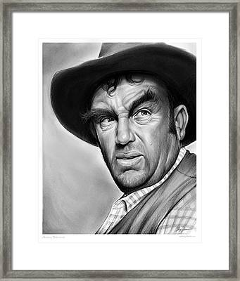 Andy Devine Framed Print by Greg Joens