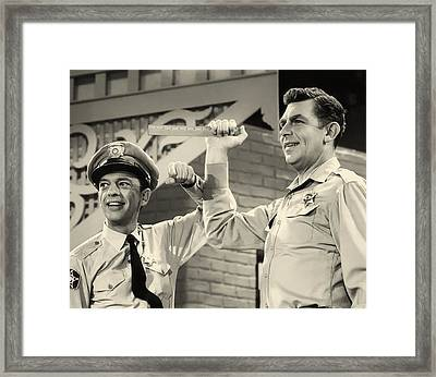 Andy Griffith And Don Knotts 1970 Framed Print by Mountain Dreams