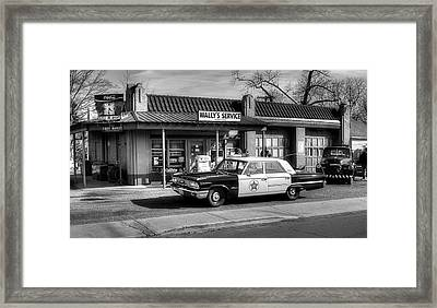 Andy Griffith And Mayberry Framed Print