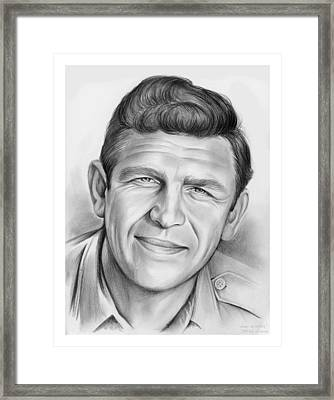 Andy Griffith Framed Print by Greg Joens