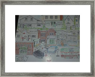 Andy Griffith/mayberry Framed Print