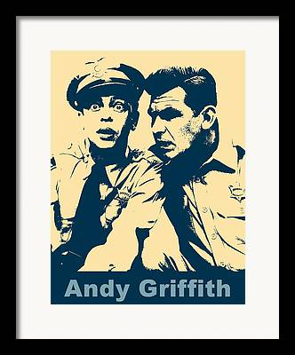Andy Griffith Show Mixed Media Framed Prints