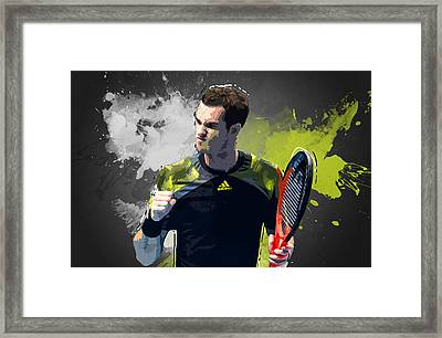Andy Murray Framed Print by Semih Yurdabak