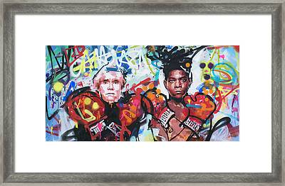 Andy Warhol And Jean-michel Basquiat Framed Print