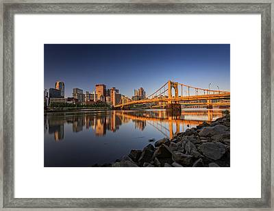 Andy Warhol Bridge Framed Print by Rick Berk