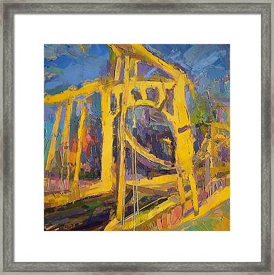 Andy Warhol Bridge  Framed Print by Roland Kay